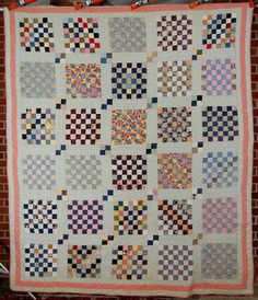 postage stamp 49-patch quilt