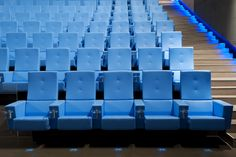 Frau armchair Serie _815 for cinema and auditorium - blu - designed by SeveriniAssociati + partners