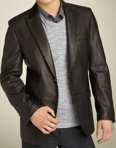 Mens Kilroy Lambskin Leather Blazer