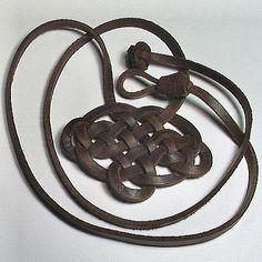 Celtic Majestic Emblem Spanish Leather Necklace