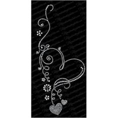 Heart Fancy Swirl Flower eps svg