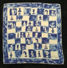 Authentique Foulard Jeanne Lanvin / Jeanne Lanvin Silk Scarf