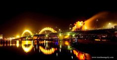 Da Nang is located on the west side of the Han River and the beaches are to the east. In the middle night, traffic is restricted to get from crossing the Han River Bridge and it swings on its axis to allow shipping traffic to pass along the river.