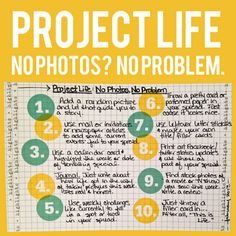 Project Life Weeks 4 & 5: What to do when you don't have photos