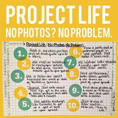 no photos? no problem! tips from @Kristin Tweedale <3