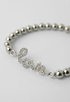 Beaded  Love Bracelet - Retro, Indie and Unique Fashion