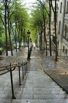 Montmartre Stairs - no benches on the landings....they've already cleared the bodies off!