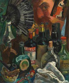 grosz | George Grosz, Myself and the Barroom Mirrror, 1937