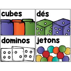 Étiquettes pour matériel mathématiques 1st Grade Math, Grade 1, Classroom Displays, Classroom Decor, French Resources, Organiser, Kindergarten, Teacher, School