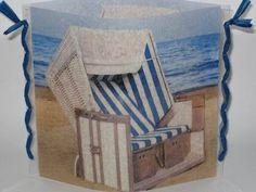 """Windlicht  """"Strandkorb"""" von Creativablue auf DaWanda.com"""