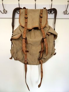 Vintage military backpack by sweetsalvage on Etsy