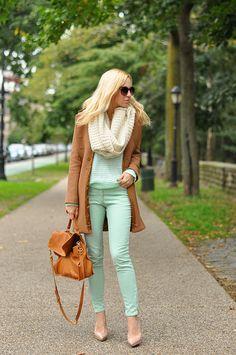 Mint Green & Camel