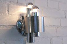 Vintage chrome design wall lamp van PresentPastDesign op Etsy
