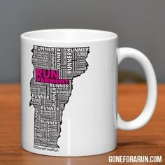 Vermont Runner. State Runner Collection Mugs. Exclusively from GoneForaRun.com #running #runner