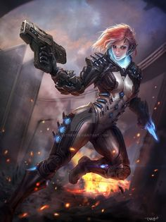 Image result for sci fi cyber ninja woman