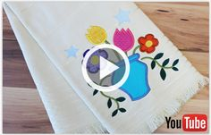 Free video with instructions on how to embroider a multi-piece classic applique design.