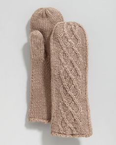 Hat Attack Cable Knit Mittens | Gloves and Accessory