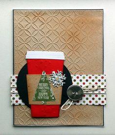 Card christmas coffee tea MFT die - warm wishes - Die-namics LLD Coffee Cup - Echo Park Paper pad- The story of christmas & ´tis the Season - JKE