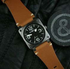 Diggin this Oak Classic Vintage Strap for the Bell & Ross BR01 & BR03!!!
