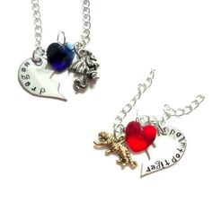 Toradora Ryuji & Taiga Best Friends/Lovers Necklaces by Anime Couture