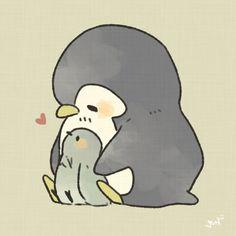 Penguin Drawing, Penguin Art, Penguin Love, Cute Penguins, Cute Animal Drawings, Kawaii Drawings, Cute Drawings, Cute Screen Savers, Spiritual Animal