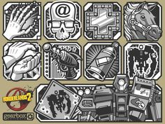 Borderlands 2 Skill Icons: Gaige