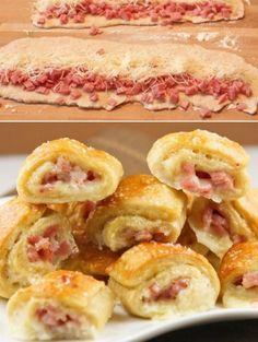 Rollitos de jamón y queso - Muy Ingenioso