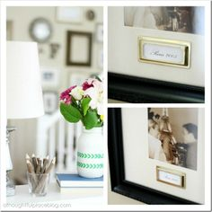 Brass Plates add an extra detail to special photographs. Great for a gallery wall.