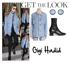 """""""Gigi Hadid with Zayn Malik in Milan February 28 2016"""" by valenlss ❤ liked on Polyvore featuring RtA, Krewe and Sandro"""