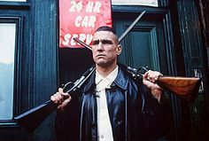 Former footballer Vinnie Jones became a menacing dude in the hands of Guy Ritchie, who cast him in a bunch of his movies, including Lock, Stock and Two Smoking Barrels and Snatch.