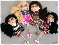 Pins and pendants - Angela's Expressions Pendants, Dolls, Christmas Ornaments, Holiday Decor, Handmade, Baby Dolls, Hand Made, Doll, Christmas Jewelry