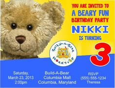 What to expect during a build a bear birthday party coupon code build a bear birthday party invitation and matching party favors filmwisefo