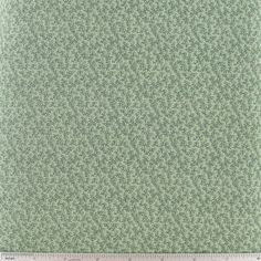 Green Tiny Vine Cotton Calico Fabric