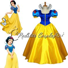 Disney Princess Snow white Evening Gown/Party by RedstarCosplay, $109.00
