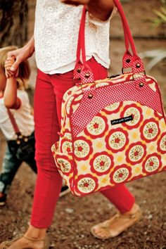 Beautiful new diaper bag for Spring!