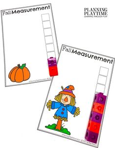 Try this FUN FALL Measurement Activity! -Fall Kindergarten Morning Tubs Kindergarten Class, Kindergarten Activities, Autumn Activities, Activities For Kids, Measurement Activities, Rhyming Words, Learning Through Play, Play To Learn, Business For Kids