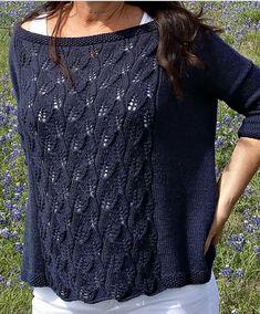 aktuellste Fotografien sommerpulli Stricken diy Arbeit The Bluebonnet Top Summer Knitting, Lace Knitting, Pull Crochet, Knit Crochet, Crochet Pullover Pattern, Blue Bonnets, Knitting Designs, Pulls, Knitting Patterns