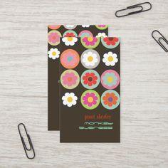 Shop Groovy Daisies, fully customizable Business Card created by Create_Business_Card. Teacher Business Cards, Create Business Cards, Calling Cards, Daisies, Colorful Backgrounds, Create Your Own, Alphabet, Daisy, Alpha Bet