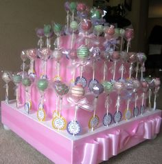 Cake pops  baby shower cake pops by exactlysweet on Etsy, $24.00