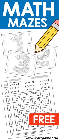 JACKPOT!!! Grab These FREE Math Mazes While you Can....Number Mazes, Skip Counting Mazes and even Multiplication Mazes!