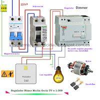 Esquemas eléctricos: Regulador Dimer Merlin Gerin TV 0 1.000