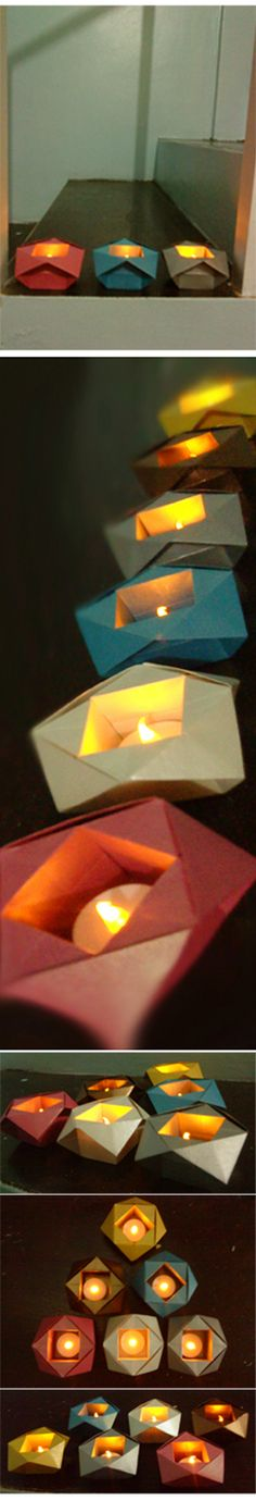 My Christmas origami project: Philip Shen bowls. :)