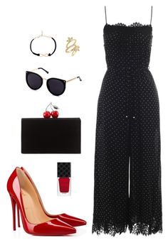 Street style by dalma-m on Polyvore featuring polyvore fashion style Zimmermann Christian Louboutin Edie Parker Luv Aj Gucci clothing