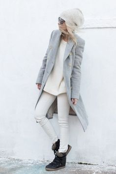 gray and white winter style