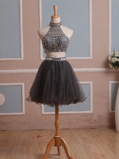 Buy Simple-dress Handmade Two-pieces Short Sparkle Short 2015 Tulle Homecoming Dresses/Party Dresses/Cocktail Dress/Sweet 16 Dress TUPD-7429 Little Black Dresses under US$ 159.99 only in SimpleDress.