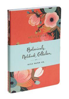 Nom de Bloom Notebook Set by Rifle Paper Co.