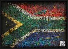 Hand-Painted Flag of South Africa-Distressed by ArtForLoft on Etsy