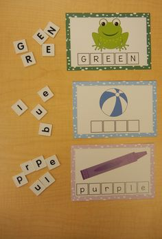 Color Word Cards. Three different levels and eleven colors included with each set. Great for students to practice spelling and reading their color words.