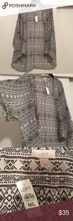 LOFT Sheer Kimono Never worn with tags LOFT Sweaters Shrugs & Ponchos
