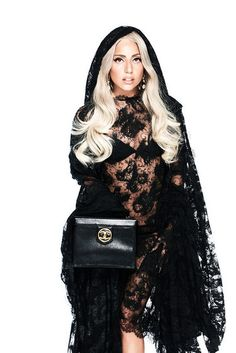 Absolutely love this lace cape and hoodie! Lady Gaga for Bild Magazine . Gahhhh give it to me NOW.